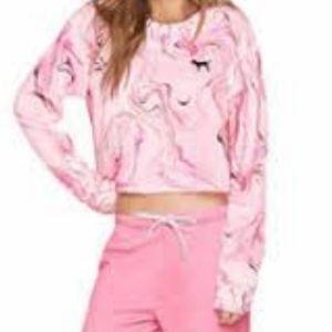 PINK Victoria's Secret Pink Cropped Sweatshirt M